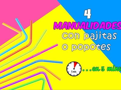 MANUALIDADES FÁCILES PARA HACER EN CASA 4 MANUALIDADES CON PAJITAS IDEAS DIY EN 5 MINUTOS
