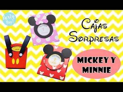 Mickey y Minnie DIY cajas sorpresas ????????   - 2 ideas + moldes| Party pop!????|