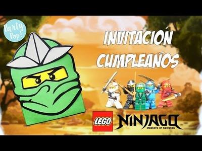 NINJAGO - Invitación infantil DIY + moldes #Ninjago | Party pop!????|