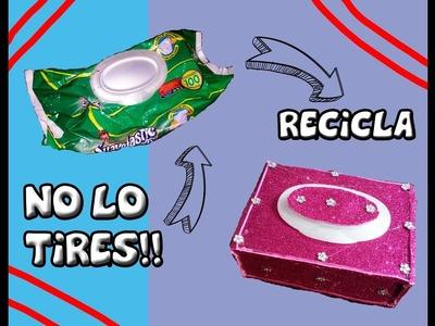 NO LO TIRES!!  Y RECICLA. MANUALIDADES CON CARTON Y TOALLITAS DE BEBE. DIY