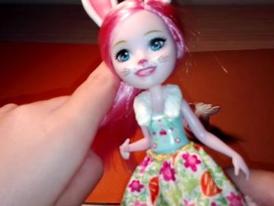 Nueva muñeca entchancimals!!! Muñeca vestida de conejo -manualidades y juguetes
