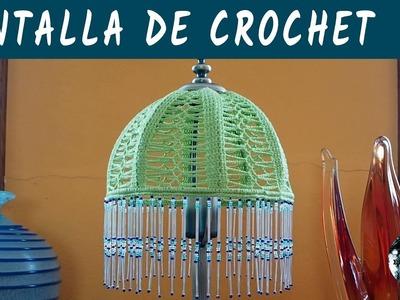 Pantalla de ganchillo con flecos de cuentas - Crochet