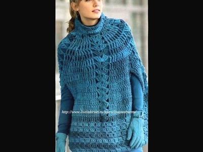 Poncho Mujer Tejido a Crochet Ganchillo