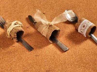 Porta Cubiertos con Material Reciclado - DIY Manualidades