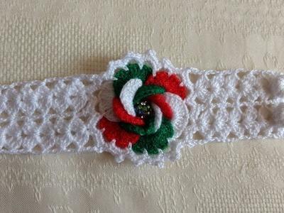 Pulsera a crochet