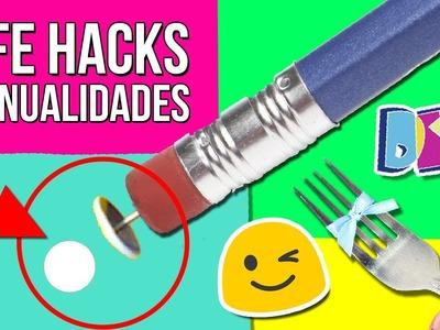 ???? ¿¿Sabías estos TRUCOS?? ✏️✂️ 10 Asombrosos LIFE HACKS de Manualidades que TE AYUDARÁN