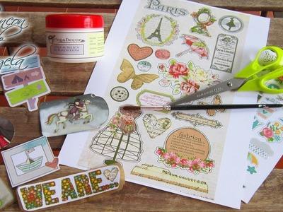 Scrapbooking-Como hacer tus propias pegatinas con imprimibles para tus manualidades