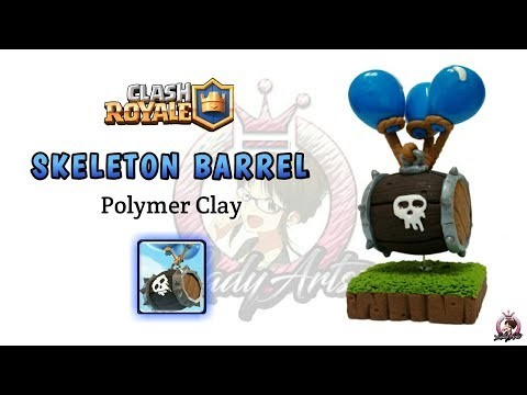 Skeleton Barrel | Clash Royale | Polymer Clay Tutorial