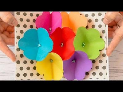 Tarjeta pop up flores en 3D: DIY regalos fáciles y rápidos - Manualidades faciles para hacer en casa