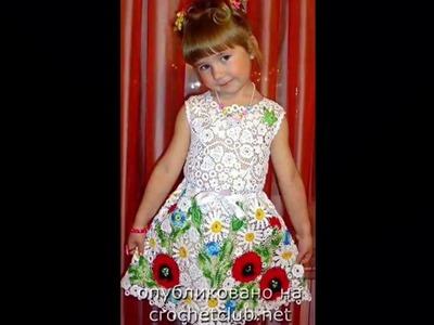 Vestido floreado mujer Tejido a crochet ganchillo