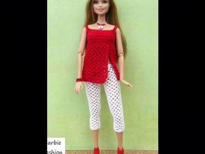 Vestido Para Muñeca Barbie tejido a Crochet o Ganchillo