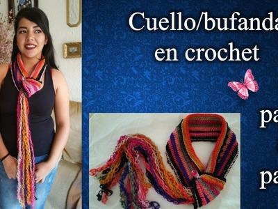 BUFANDACUELLO en crochet PASO A PASO reducido