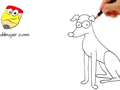 Cómo dibujar al perro de los Simpson fácil paso a paso - Dibujos a lápiz para niños