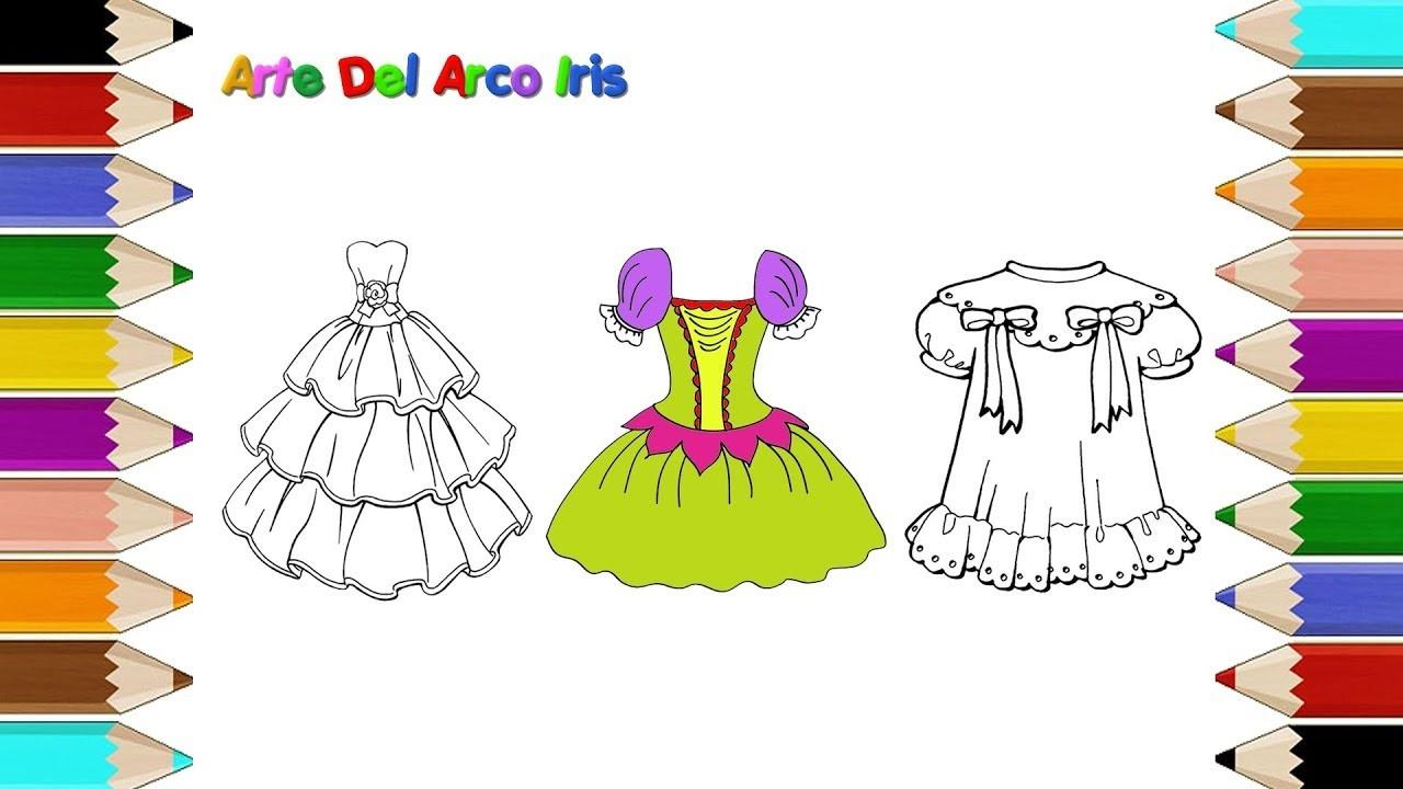 Como Dibujar Un Vestidos Para Niñas Dibujos Para Colorear