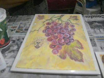 COMO HACER azulejo O MOSAICOS artesanal  cocina parte 1