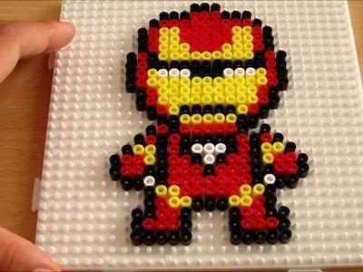 Como hacer ha iron man con hama beads.creando hamas #4