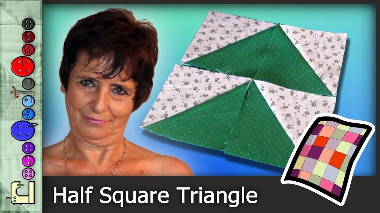 Cómo hacer la Técnica Half Square Triangle (Patchwork) [Tutorial]