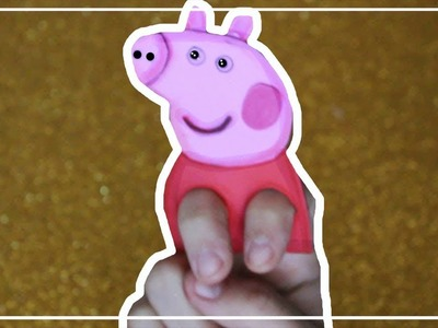 Como hacer títeres de dedos Peppa Pig en goma eva   Adornos con goma eva   Peppa Pig Finger Puppet