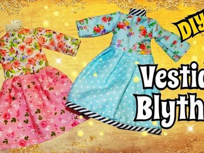 Como hacer un Vestido con Mangas para Muñecas Blythes DIY Costura