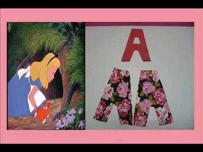 Como realizar las letras con tejidos estampados
