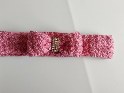 Crochet: Diadema, vincha, banda, tiara  para el cabello a crochet