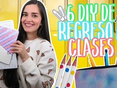 Decora tus ÚTILES o MATERIAL escolar – 6 DIY regreso a CLASES | Mariana Clavel