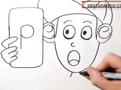 Dibujos con palabras. Arte apartir de palabras.