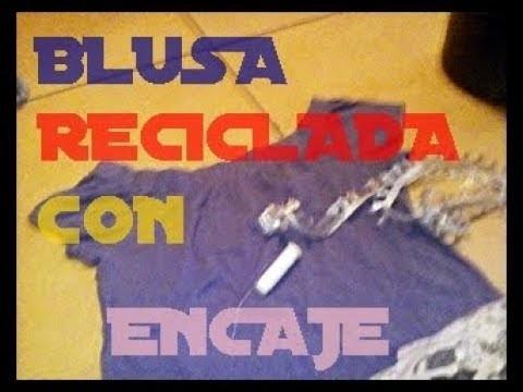 DIY Blusa Reciclada con Encaje-#KhrisaMcGee¡Compártelo!