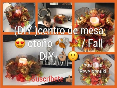 (DIY) Centro de mesa para decorar .  Otoño ???? ????. DIY FALL .