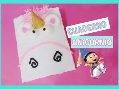 DIY - cuaderno unicornio de los minions