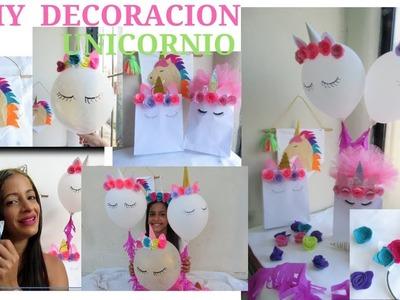 DIY DECORACIÓN DE UNICORNIO: Globos, Fundita, Diadema y banner  ♥ yesbel cruz