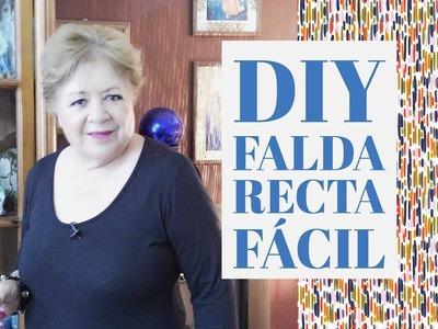 DIY - FALDA RECTA FÁCIL. EASY SKIRT