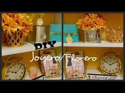 DIY||Joyero.Florero hecho de espejos del Dollar Tree.
