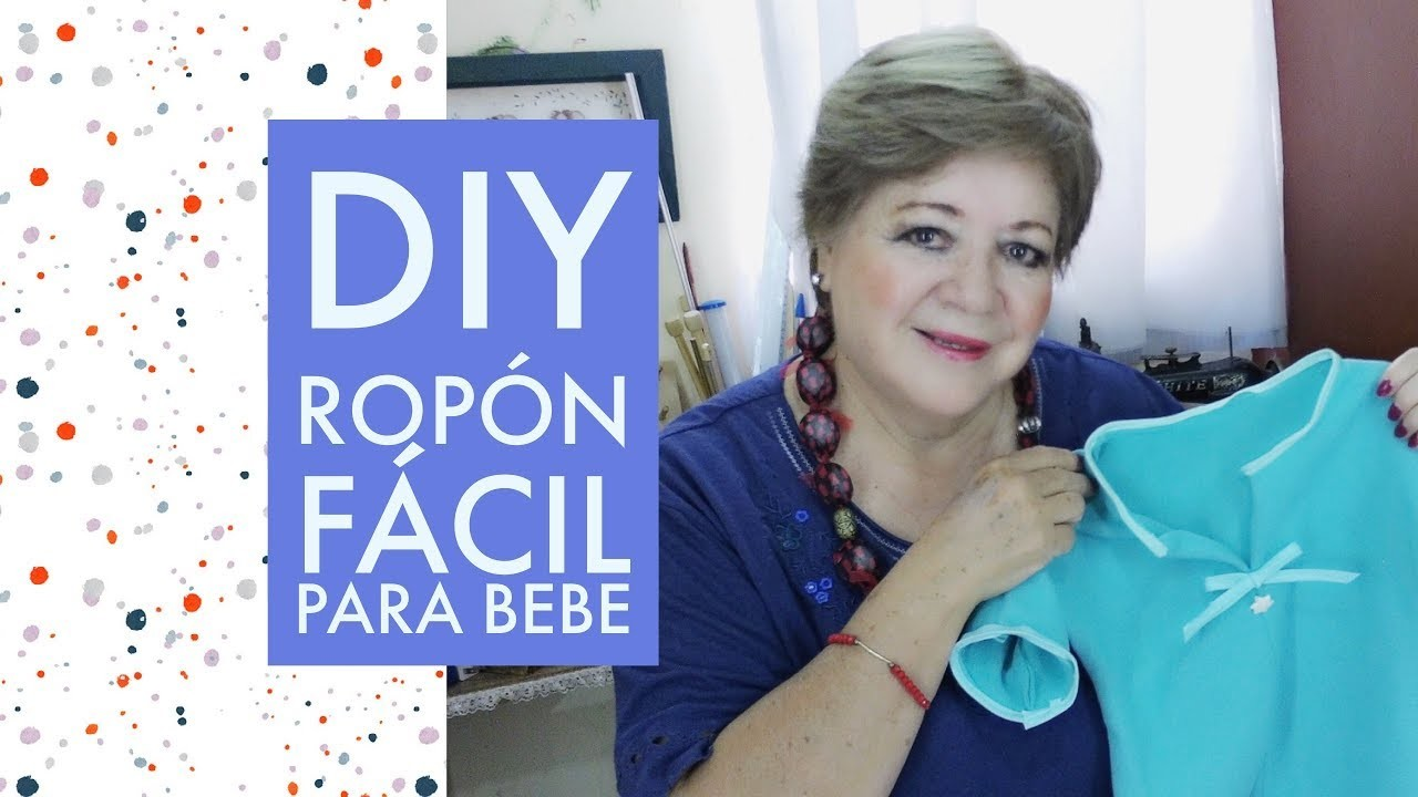 DIY - ROPON FÁCIL PARA BEBÉ SIN MOLDES. EASY BABY CLOTH WITHOUT MOLDS