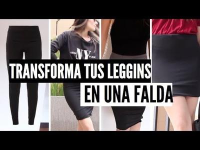 DIY-TRANSFORMA TUS LEGGINS EN UNA FALDA - Michelle Macia