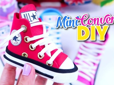 DIY ZAPATILLAS DE DEPORTE EN MINIATURA CONVERSE ALL STAR PORTA LÁPICES O PORTA BROCHAS DIY