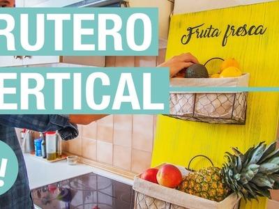 Frutero vertical decorado con efecto envejecido · Handfie DIY