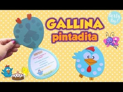 GALLINA PINTADITA - Invitación  Infantil + Moldes (DIY) | Party pop!????|