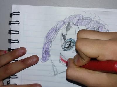 Mostrando mis dibujos de mlp y como haser el dibujo