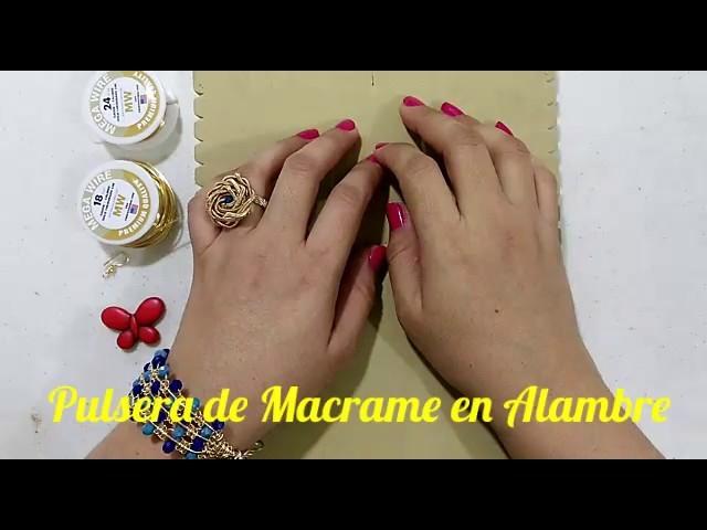 Pulsera de Macrame en Alambre