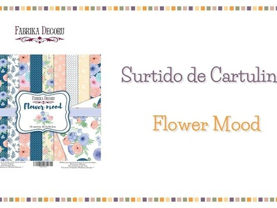 Set para scrapbooking Flower Mood de Fabrika Decoru