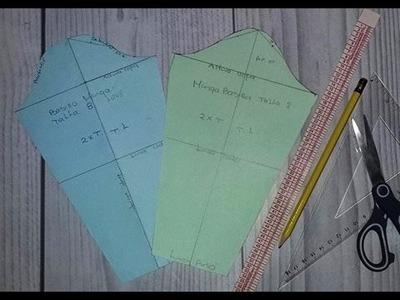 2 Metodos para hacer patrón manga básica