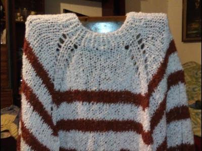 25.- Poncho fácil a palillo con lana Crespita
