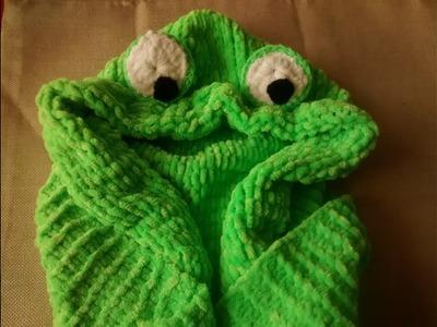8.- Capucha de sapito con bufanda a palillo