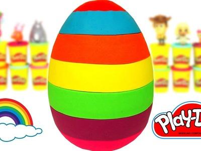 Aprende los Colores con un Huevo Sorpresa Gigante de Plastilina Play Doh