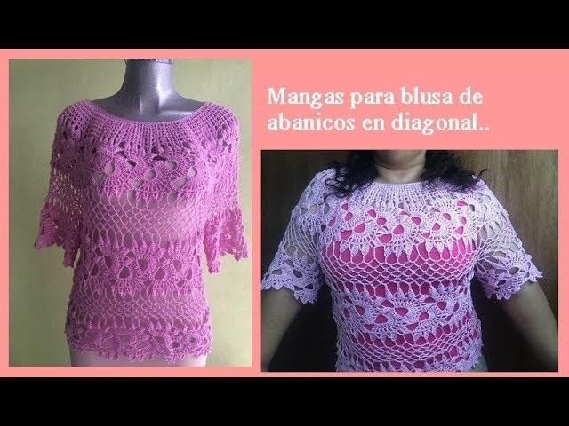 Blusa con abanicos en diagonal (MANGAS)