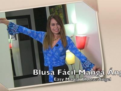 Blusa Fácil Manga ángel  Easy Mango Blouse Angel- Omaira tv
