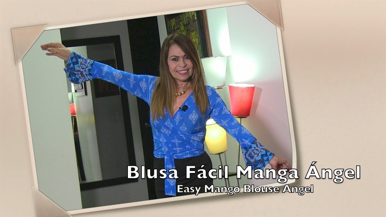 Blusa Fácil Manga ángel  Easy Mango Blouse Angel- Omaira tv