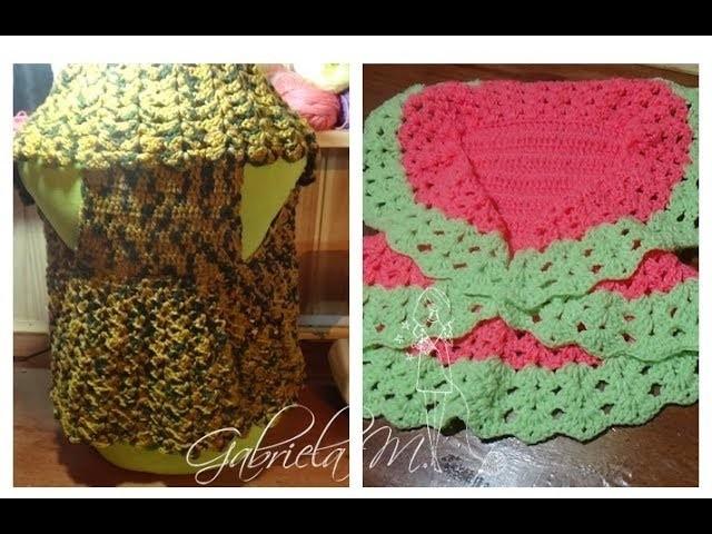 Bolero chaleco tejido en crochet para todas las tallas