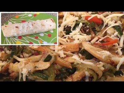 Burritos de papas con queso |  tocino y rajas poblanas |  como prepararlos